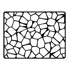 Seamless Cobblestone Texture Specular Opengameart Black White Double Sided Fleece Blanket (Small)