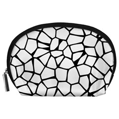 Seamless Cobblestone Texture Specular Opengameart Black White Accessory Pouches (Large)