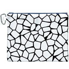 Seamless Cobblestone Texture Specular Opengameart Black White Canvas Cosmetic Bag (XXXL)