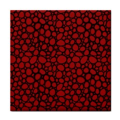 Tile Circles Large Red Stone Tile Coasters