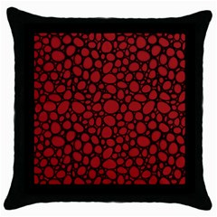 Tile Circles Large Red Stone Throw Pillow Case (Black)