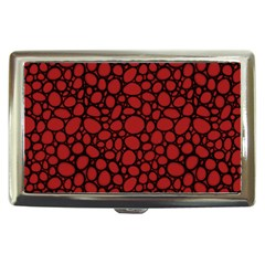 Tile Circles Large Red Stone Cigarette Money Cases