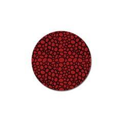 Tile Circles Large Red Stone Golf Ball Marker (10 pack)