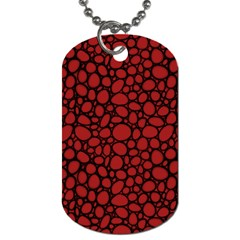 Tile Circles Large Red Stone Dog Tag (Two Sides)