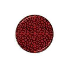 Tile Circles Large Red Stone Hat Clip Ball Marker