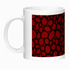 Tile Circles Large Red Stone Night Luminous Mugs