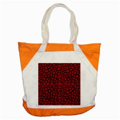 Tile Circles Large Red Stone Accent Tote Bag