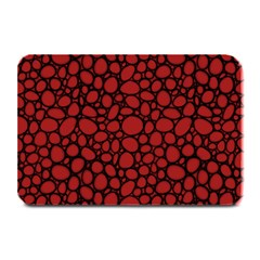 Tile Circles Large Red Stone Plate Mats