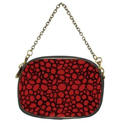 Tile Circles Large Red Stone Chain Purses (two Sides)