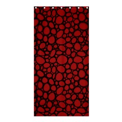 Tile Circles Large Red Stone Shower Curtain 36  x 72  (Stall)
