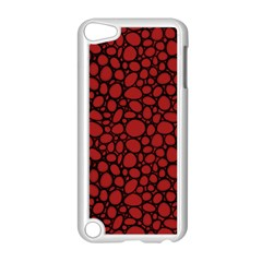Tile Circles Large Red Stone Apple iPod Touch 5 Case (White)