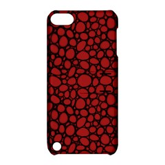 Tile Circles Large Red Stone Apple iPod Touch 5 Hardshell Case with Stand