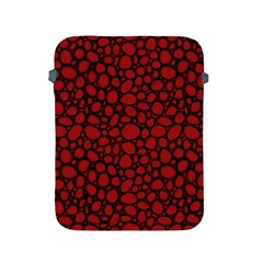 Tile Circles Large Red Stone Apple iPad 2/3/4 Protective Soft Cases