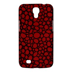 Tile Circles Large Red Stone Samsung Galaxy Mega 6.3  I9200 Hardshell Case