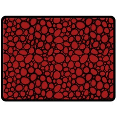 Tile Circles Large Red Stone Double Sided Fleece Blanket (Large)