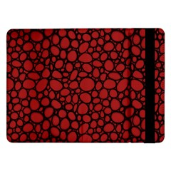 Tile Circles Large Red Stone Samsung Galaxy Tab Pro 12.2  Flip Case