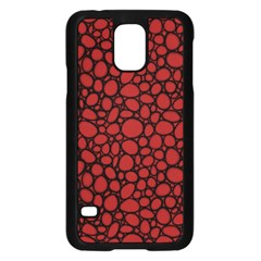 Tile Circles Large Red Stone Samsung Galaxy S5 Case (Black)