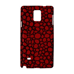 Tile Circles Large Red Stone Samsung Galaxy Note 4 Hardshell Case