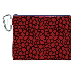 Tile Circles Large Red Stone Canvas Cosmetic Bag (XXL)