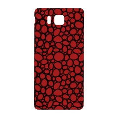 Tile Circles Large Red Stone Samsung Galaxy Alpha Hardshell Back Case