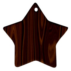Texture Seamless Wood Brown Ornament (star)