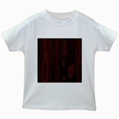 Texture Seamless Wood Brown Kids White T-Shirts