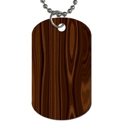 Texture Seamless Wood Brown Dog Tag (One Side)