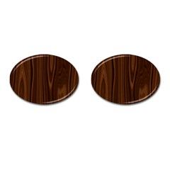 Texture Seamless Wood Brown Cufflinks (oval)