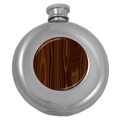 Texture Seamless Wood Brown Round Hip Flask (5 oz)