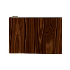 Texture Seamless Wood Brown Cosmetic Bag (Large)