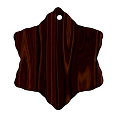 Texture Seamless Wood Brown Snowflake Ornament (Two Sides)
