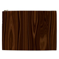 Texture Seamless Wood Brown Cosmetic Bag (XXL)