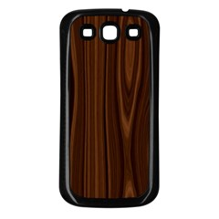 Texture Seamless Wood Brown Samsung Galaxy S3 Back Case (Black)