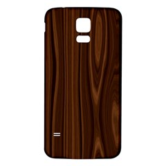 Texture Seamless Wood Brown Samsung Galaxy S5 Back Case (White)