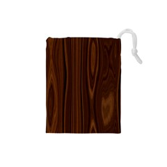 Texture Seamless Wood Brown Drawstring Pouches (Small)