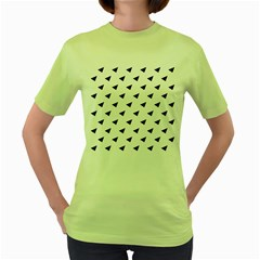 Triangle Purple Blue White Women s Green T Shirt