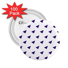 Triangle Purple Blue White 2.25  Buttons (100 pack)