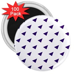 Triangle Purple Blue White 3  Magnets (100 pack)
