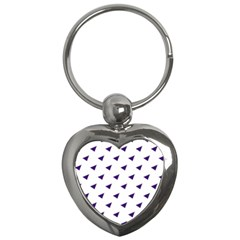 Triangle Purple Blue White Key Chains (Heart)