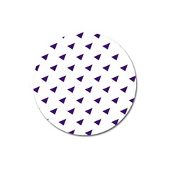 Triangle Purple Blue White Magnet 3  (Round)