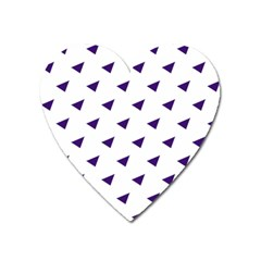 Triangle Purple Blue White Heart Magnet