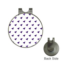 Triangle Purple Blue White Hat Clips With Golf Markers