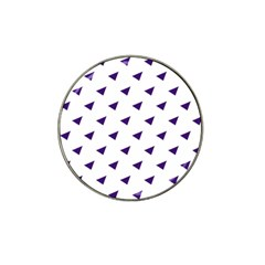 Triangle Purple Blue White Hat Clip Ball Marker (4 pack)