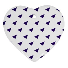 Triangle Purple Blue White Heart Ornament (Two Sides)