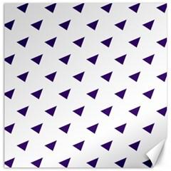 Triangle Purple Blue White Canvas 12  x 12
