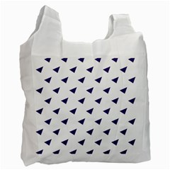 Triangle Purple Blue White Recycle Bag (One Side)
