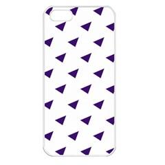 Triangle Purple Blue White Apple iPhone 5 Seamless Case (White)