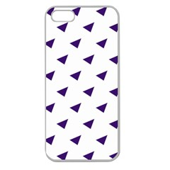 Triangle Purple Blue White Apple Seamless iPhone 5 Case (Clear)