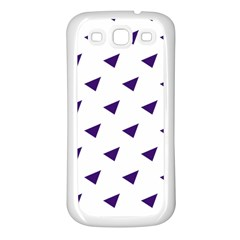 Triangle Purple Blue White Samsung Galaxy S3 Back Case (White)