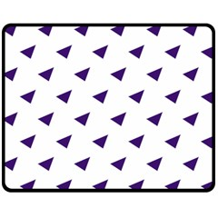 Triangle Purple Blue White Double Sided Fleece Blanket (Medium)